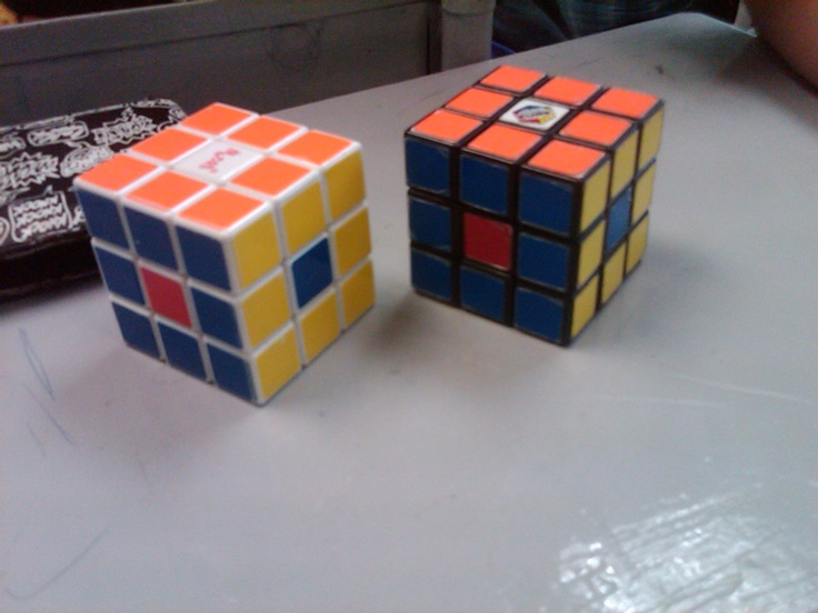 Naranja Azul Amarilla Rubik Cubo Rubik Uñas Azules