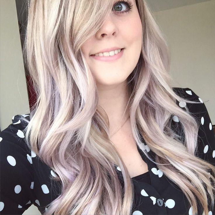 Lilac toner on blonde hair without visiting a hairdresser! http://mozzypop.blogspot.com #pastelhair #lavenderhair