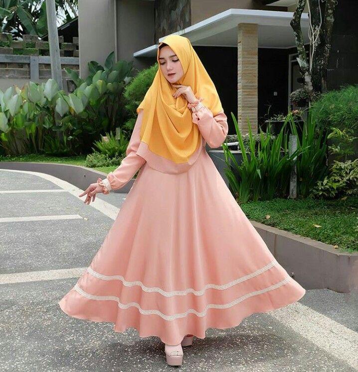 Pin oleh Rostina Sari di Contoh 1 Gaya hijab, Model