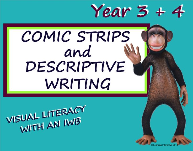 This Year 3 & 4 unit of work contains a 24 page SMART Notebook comprised of modelled, guided and independent activities designed to assist students to create a comic strip based upon their own descriptive writing.   Blank templates are included in the SMART Notebook to allow you to use images of your choice for the activity. Worksheets, a wall display and detailed teacher notes are also included. $20.00.