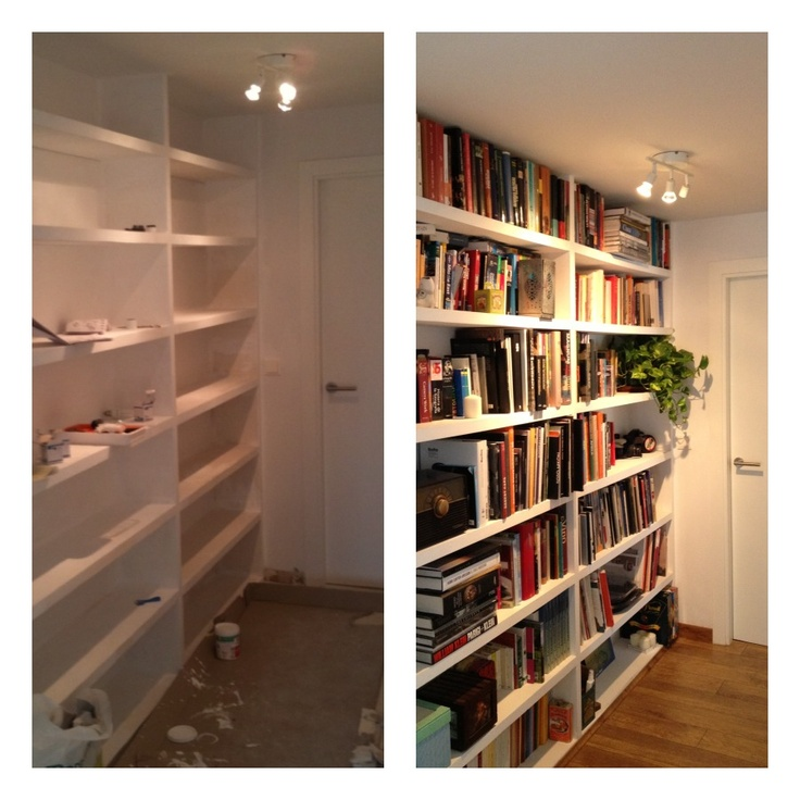 Library at M2's office (before & after)