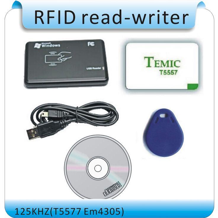 Gratis pengiriman 125 KHz EM4100 RFID copier/writer/duplicator (T5557/T5577/EM4305) gratis 10 pcs ditulisi kartu