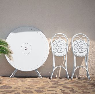 Pigalle Round Folding Table | Furniture Options. Folding bistro chairs and tables from Emu Italy.