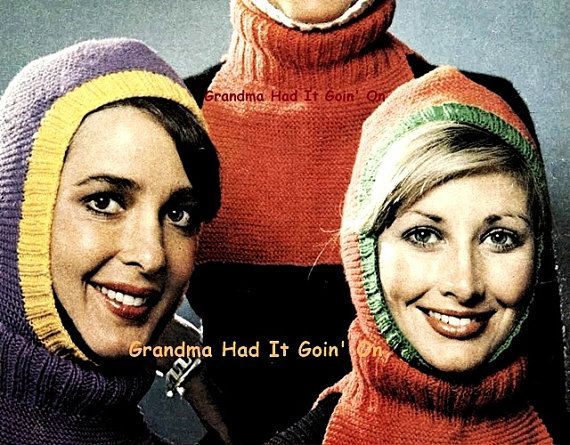 Knitting Pattern  Ski Mask  Balaclava Dickey door GrandmaHadItGoinOn