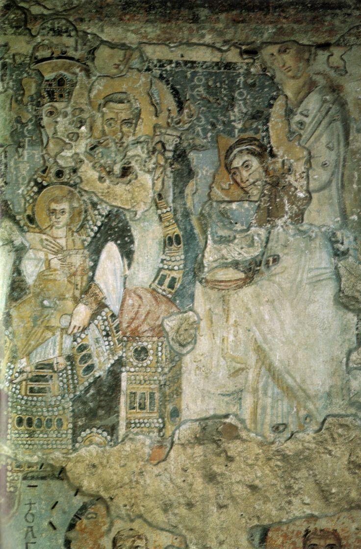 Annunciazione, affresco Chiesa Santa Maria Antiqua. Roma, 565-78