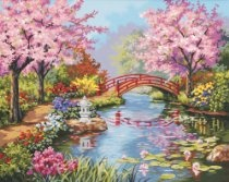 """Paint By Number Kit 20""""X16""""-Japanese Garden SKU-PAS638660"""