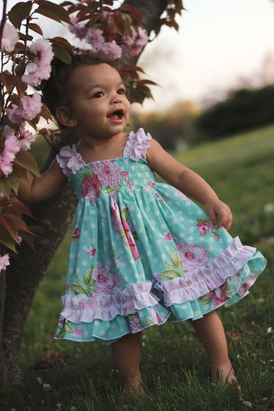 Create Kids Couture - Baby Seyla's Sundress pdf sewing pattern. Sizes newborn- 24 months. Beautiful girly pattern for your little sweetie!