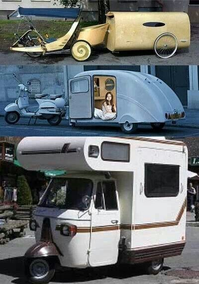 unusual tiny rvs. These cool little campers won t get you far but they are sure to look  at huh Not the RVing dream a fun local trip would be perfect lol 868 best Home is where we set parking brake images on