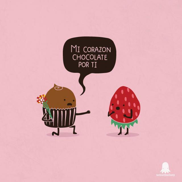 Mi corazón chocolate por ti. #Wawawiwa