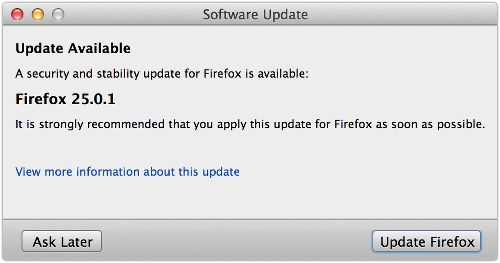 Firefox 25.0.1 – the security update that wasn't?