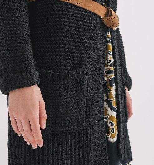 Dlouhý svetr černá - Promod