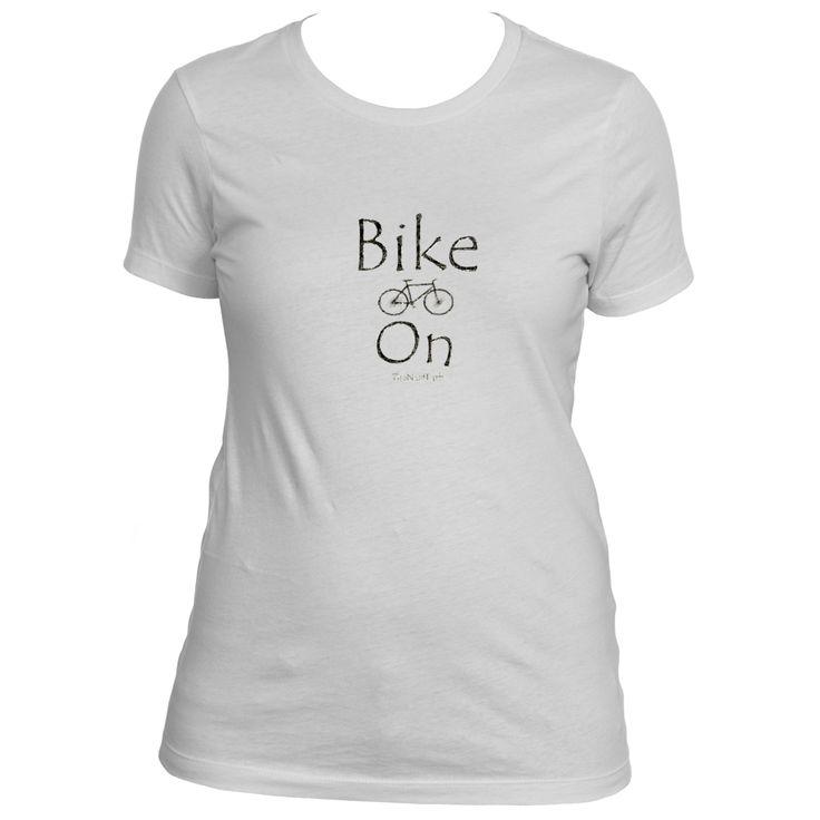Bike On Ladies Boyfriend Tee