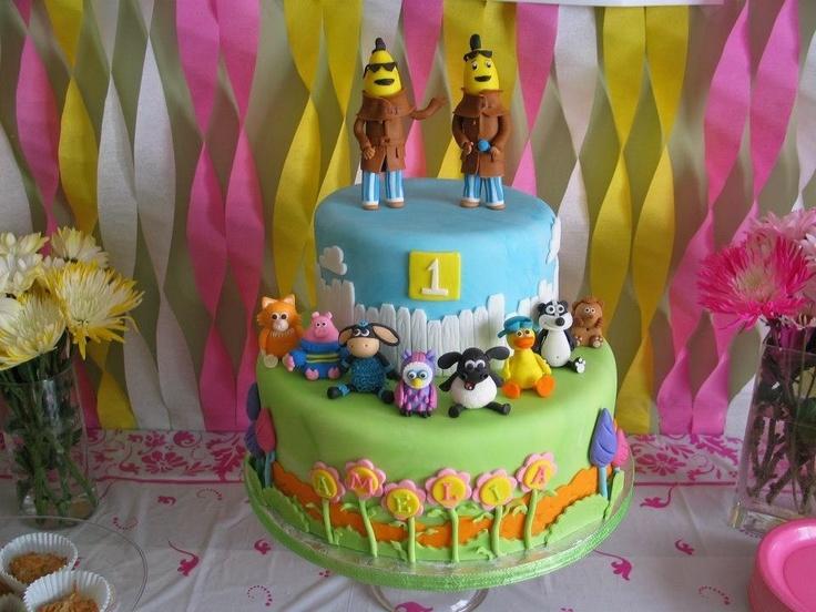Bananas in Pyjamas and Timmy Time Cake by Jennifer Borcherts Cakes jenniferncbt@yahoo.com