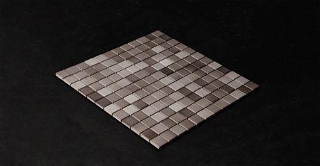 Mosaik Mix Mörkgrå 2,5x2,5