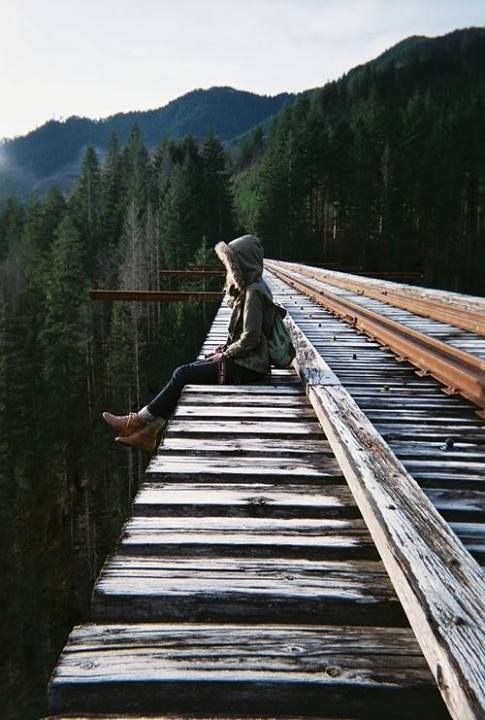 I sit on the edge on the rail way tracks. Alone. Wanting to die. Thinking that I…