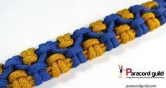 Crossed sennit paracord bracelet pattern.
