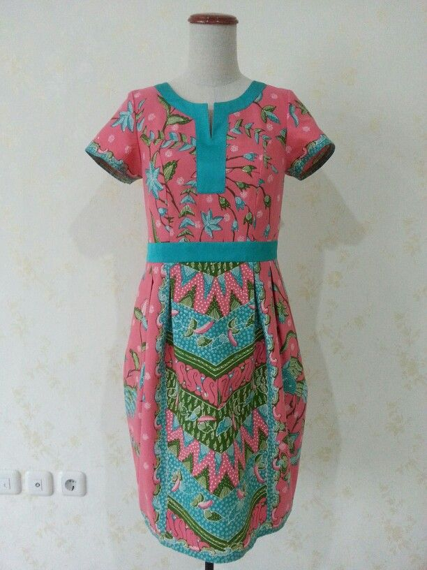 Shinta dress with tulip skirt made from batik tulis Cirebon and cotton combination. Made by Dongengan (Facebook: https://m.facebook.com/dongengan)