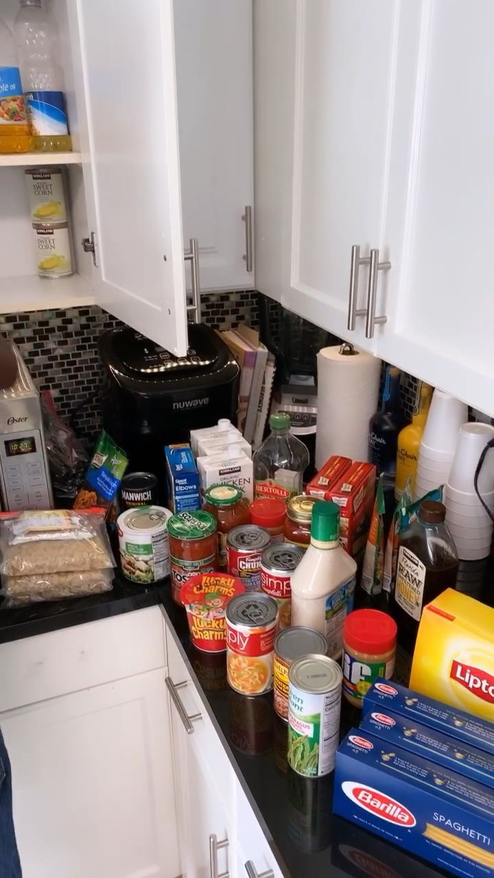 pin by bemyguestwithdenise on no pantry solution video no pantry solutions kitchen on kitchen organization no pantry id=64456