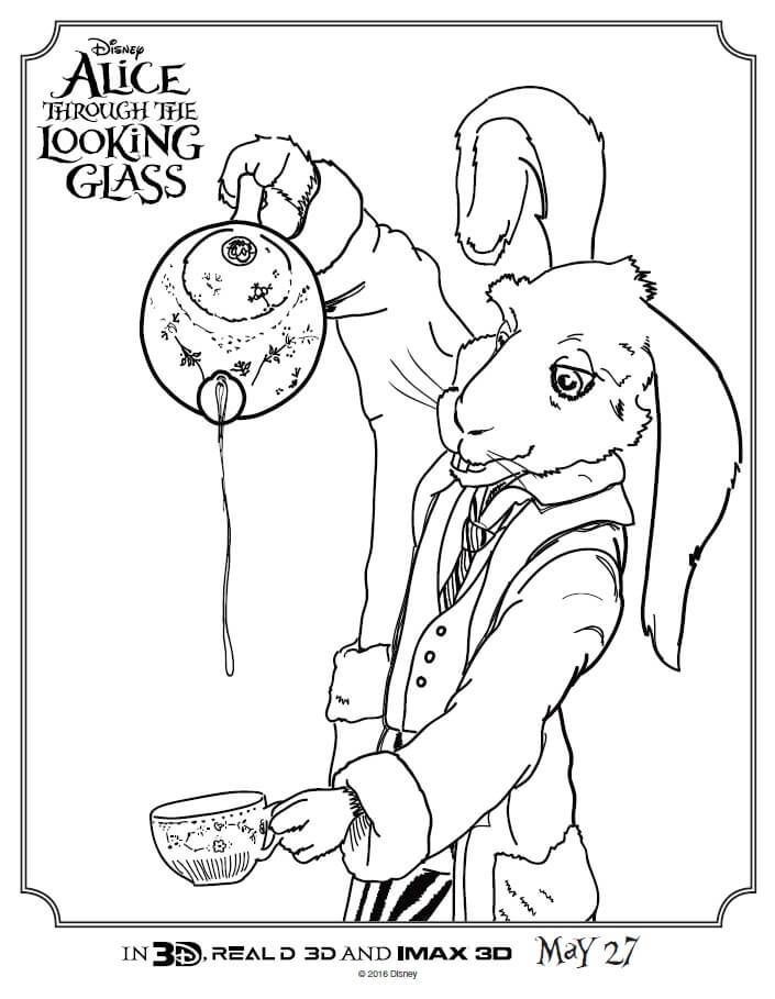 check out these alice through the looking glass coloring pages print these full size coloring - Full Size Coloring Pages Print