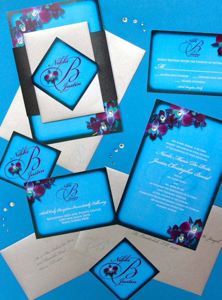A personal favorite from my Etsy shop https://www.etsy.com/listing/197008469/deposit-orchids-wedding-invitation-suite