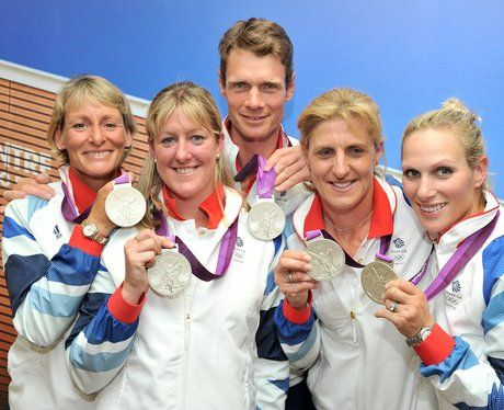 Team GB featuring Zara Philips win silver in Equestrian Team Eventing
