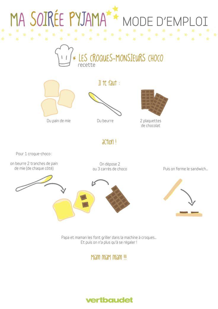 P'tits cuistots : attention, croque-monsieur au #chocolat très gourmands ! www.vertbaudet.fr