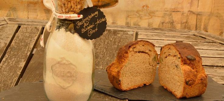 Herzhaftes Zwiebel Kürbis Brot als Backmischung im Glas