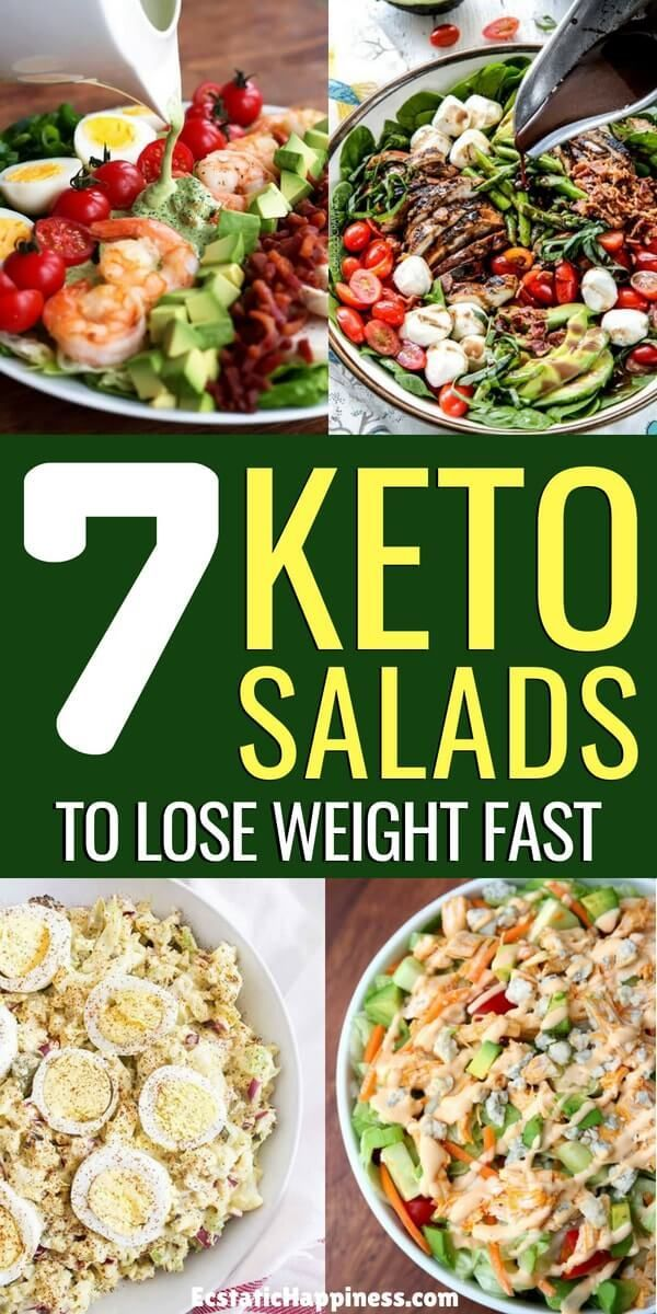 7 Keto Salad Recipes That Are Easy And Healthy Keto Recipes Easy Keto Meal Plan Keto Diet Recipes
