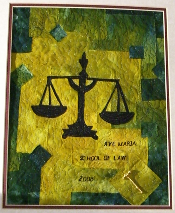 Law school graduation quilt...I need a Duncan School of Law one in Blue and Gray.