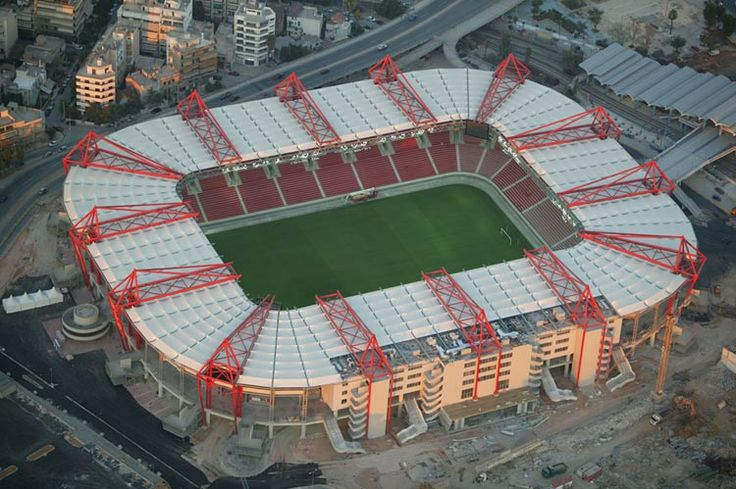 Georgios Karaiskakis Stadium is a football stadium in the Neo Faliro area of Piraeus, in Athens, Greece. It is the home ground of the most popular Greek club Olympiacos F.C. and is named after Georgios Karaiskakis (Γεώργιος Καραϊσκάκης), hero of the Greek War of Independence in 1821, who was mortally wounded near the area.