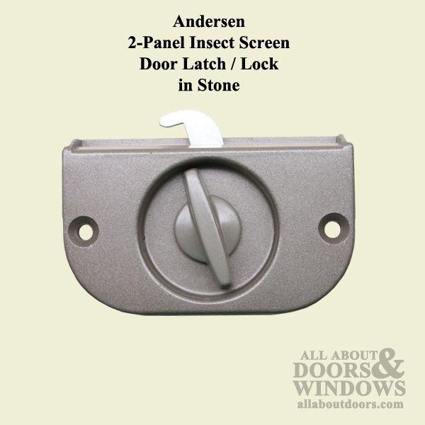 Andersen 2 Panel Patio Screen Door Latch / Lock   Stone