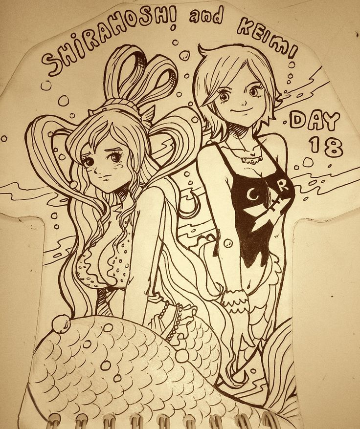 day 18 shirahoshi and keimi