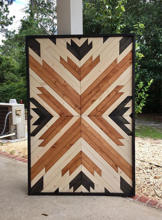 Modern Wood Art,Wood Wall Art,Geometric Wood Art,Reclaimed Wood Wall ...