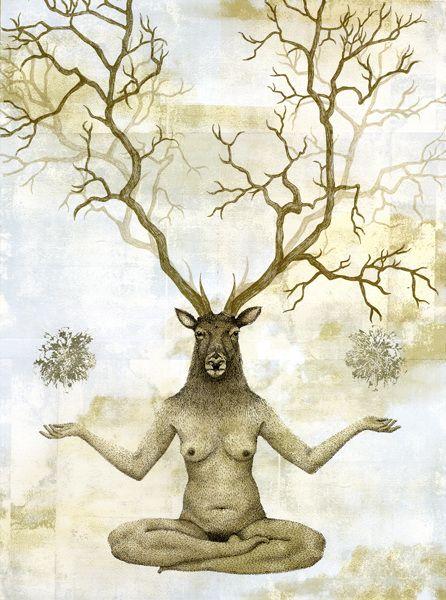 Piia Lehti, Tasapaino / Balance, 2015, silkscreen on plywood, 76 x 56 cm
