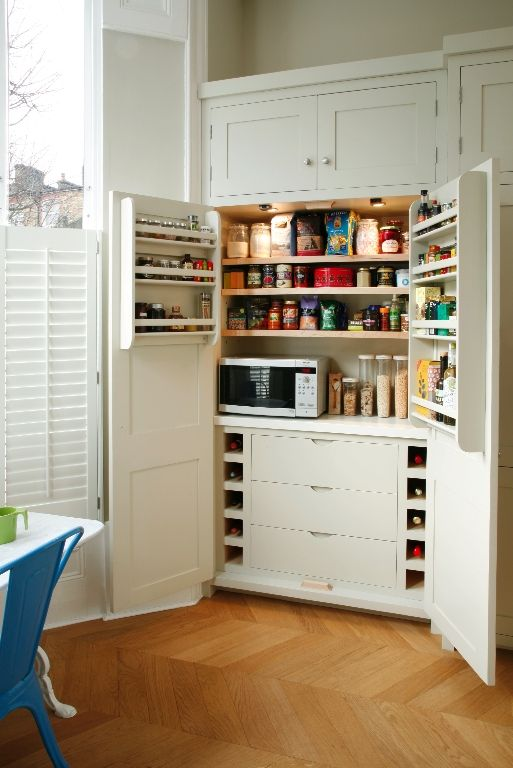 Love this larder from Higham kitchens, could put microwave and toaster in and hide away