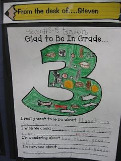 Glad to be in Grade 3... for beginning of the yearSchools Activities, 3Rdgrade, Schools Ideas, 3Rd Grade Writing, Writing Ideas, Grade Thinker, Third Grade, Writing Activities, Schools Years