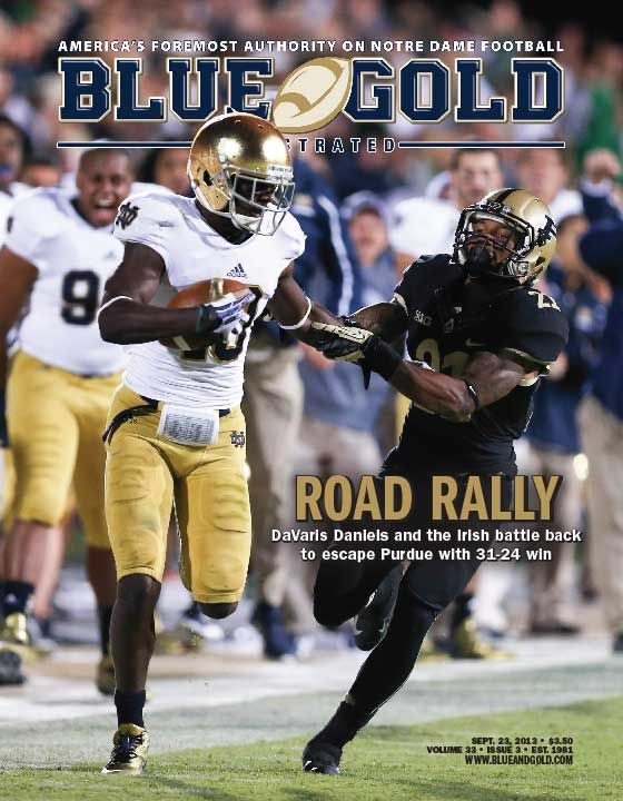 Issue #3 is available now at bluegoldonline.com. Subscribers: get ready for the MSU game now. Not a subscriber? Call today to order: 800-421-7751. GO IRISH!