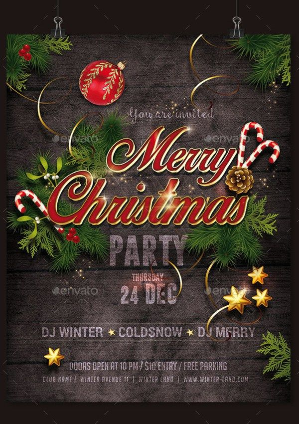 Christmas Party Flyer Ideas Part - 41: Christmas Party Flyer