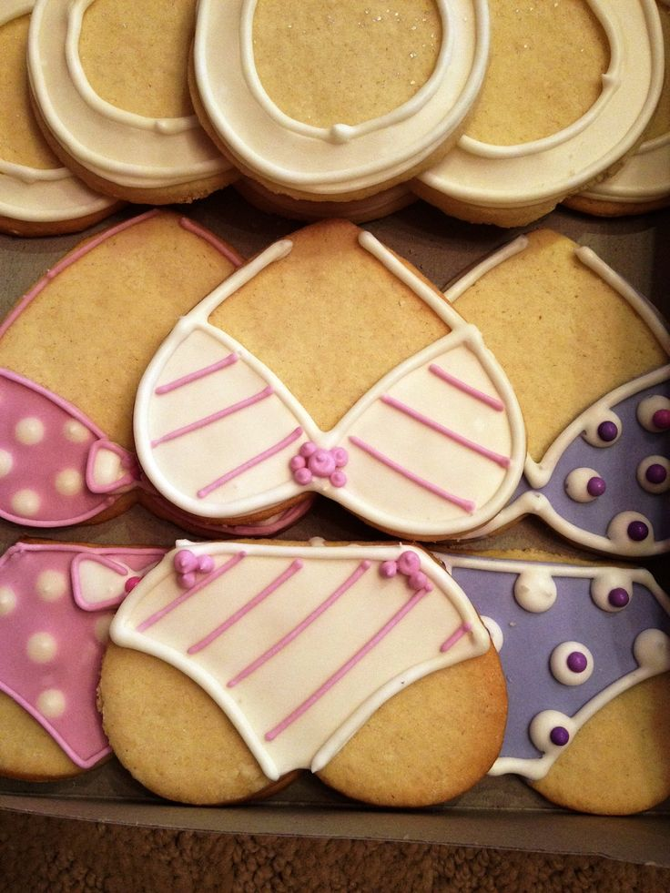 Bachelorette or Lingerie Shower cookies.    someone brought these to a party i went to and they were a big hit!