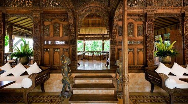 Interior - Como Shambala Estate, near Ubud, Bali: Idea, Bali Style, Shambhala Estates, Living Room, Interiors Design, Bali Houses, Home Decor, Wood Carvings, Como Shambhala