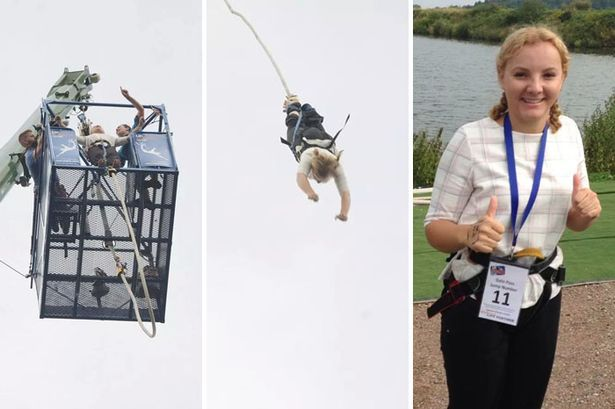 Birmingham nurse, Suzanne Payne, bungee jumps for Cavell - Birmingham Mail