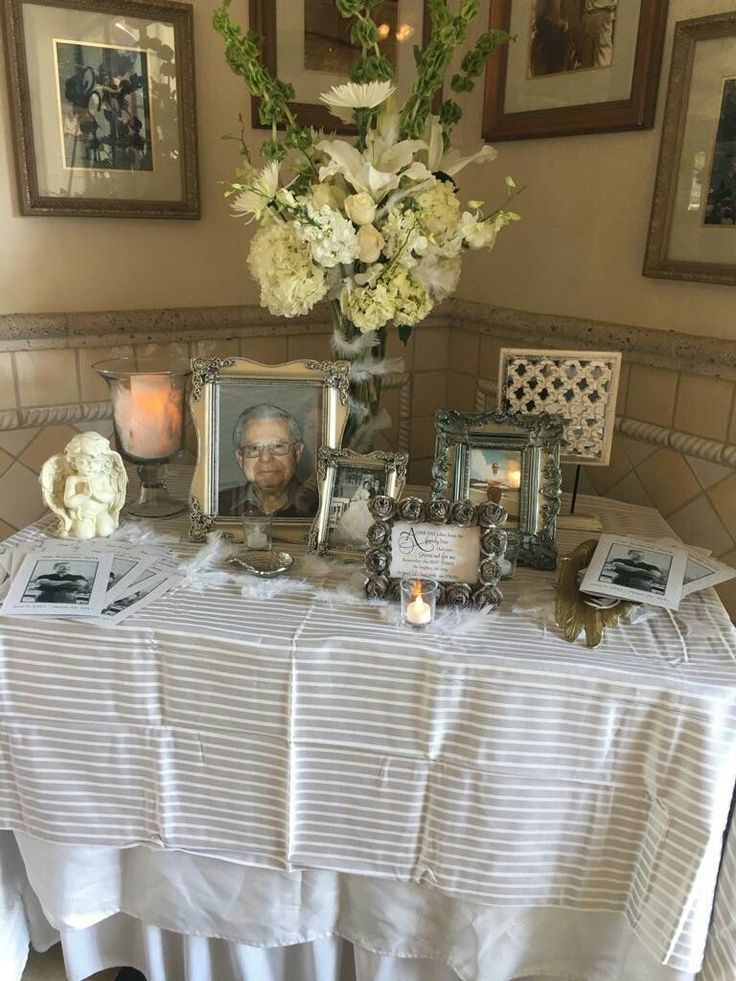 Funeral Reception Table Crafts Funeral Reception