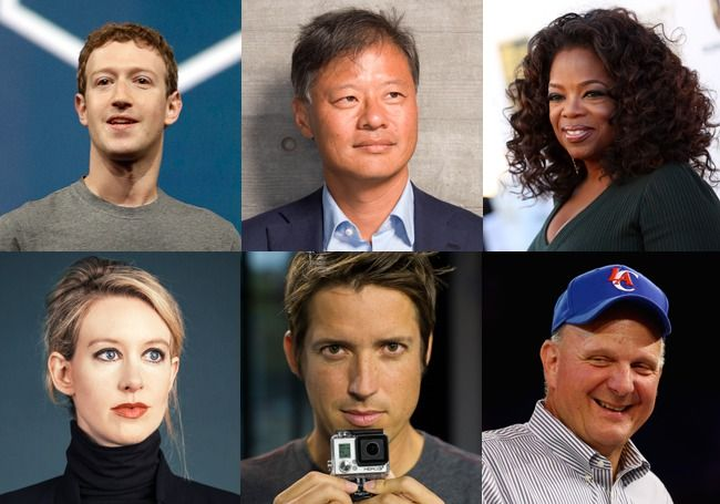 Facebook cofounder and CEO Mark Zuckerberg is now the 11th richest person in the U.S., and the biggest dollar gainer on the list. His fortune soared to $34 billion, up $15 billion since last year, due to a sharp rise in the price of the social network's shares. In percentage terms, Nick Woodman, founder of wearable video camera company GoPro, jumped the most, with a 200% increase in his net worth since last year, to $3.9 billion.