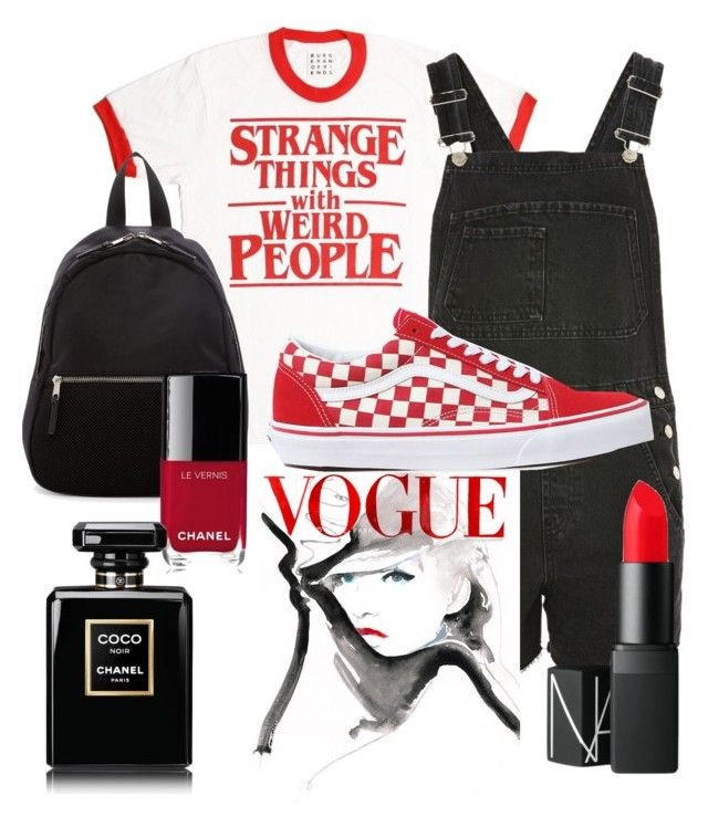 """-indy- // ❤️"" by indiravidya on Polyvore featuring Topshop, Madden Girl, Vans, NARS Cosmetics and Chanel"