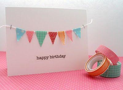 Carte d'anniversaire avec du masking tape
