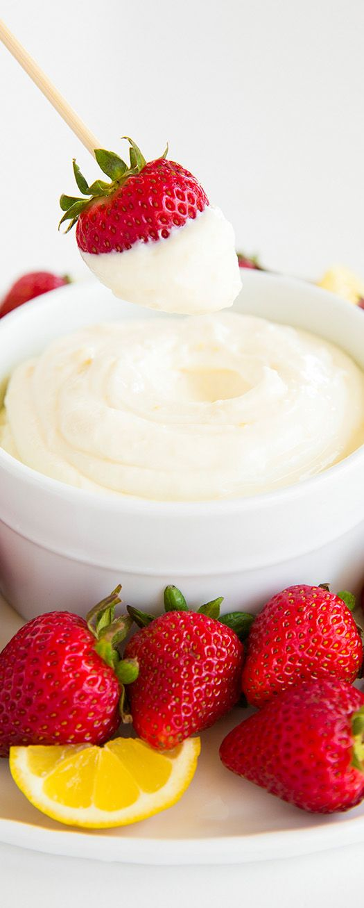 Lemon Cream Fruit Dip. A twist on the old faithful cream cheese/marshmallow creme dip. Add lemon zest, lemon juice, & lemon extract.