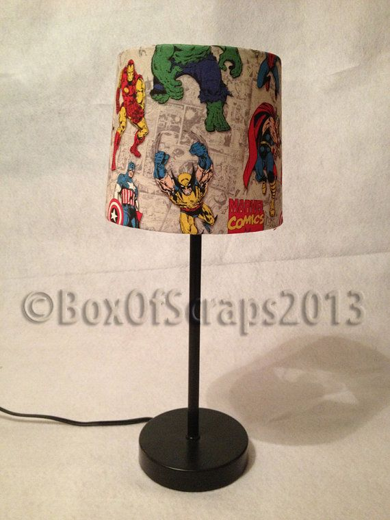 Marvel's The Avengers Comic Book Lamp by BoxOfScraps on Etsy, $35.00