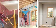Drywall Installation: Professional drywall hangers will show you how to install drywall to get the best results. Read more: http://www.familyhandyman.com/drywall/installation