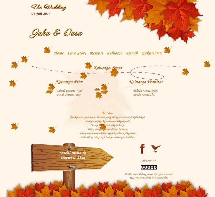 undangan pernikahan online tema autumn - datangya.com