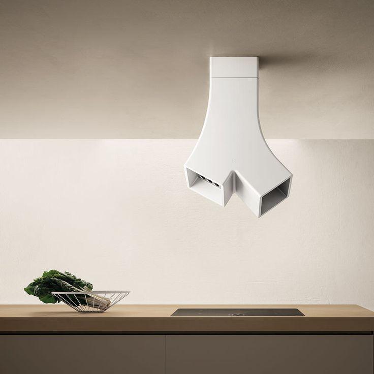 Hotte de cuisine îlot / design original / avec éclairage intégré YE by Fabrizio Crisà Elica